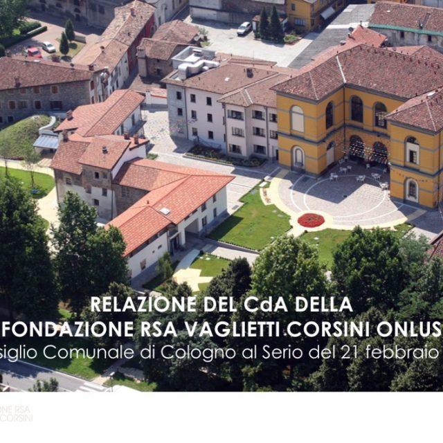 Relazione del CdA al Consiglio Comunale
