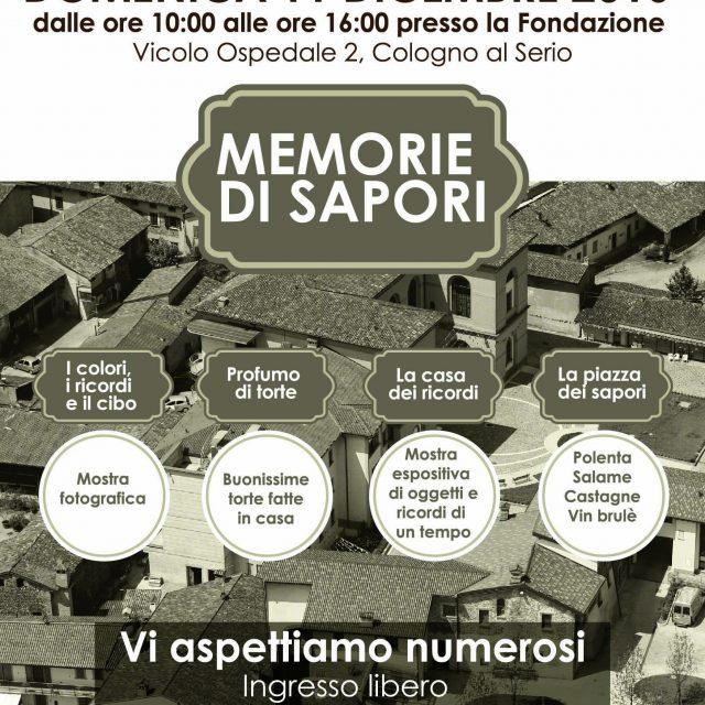 MEMORIE DI SAPORI